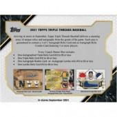 2021 Topps Triple Threads Baseball Hobby 9 Box Case