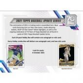 2021 Topps Update Series Baseball Jumbo Box