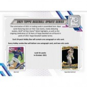 2021 Topps Update Series Baseball Jumbo 6 Box Case