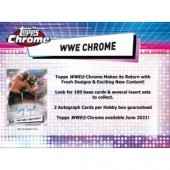 2021 Topps WWE Chrome Wrestling Hobby 8 Box Case