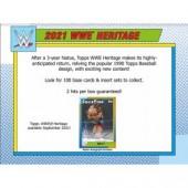 2021 Topps WWE Heritage Wrestling Hobby 8 Box Case