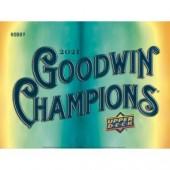 2021 Upper Deck Goodwin Champions Hobby Box
