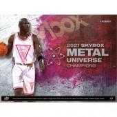 2021 Upper Deck Skybox Metal Universe Champions Hobby 8 Box Case