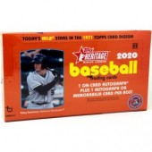 2020 Topps Heritage Minor League Baseball Hobby 12 Box Case