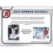 2022 Bowman Baseball Hobby 12 Box Case