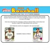 2022 Topps Heritage Baseball Hobby 12 Box Case