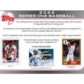 2022 Topps Series 1 Baseball Jumbo Box