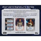 2022 Topps Star Wars Signature Series Box