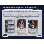 2022 Topps Star Wars Signature Series 20 Box Case