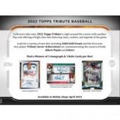 2022 Topps Tribute Baseball Hobby 6 Box Case